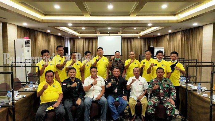 PODSI Kalsel saat presentasi kesiapan PON Papua dengan Dispora dan KONI Kalsel.