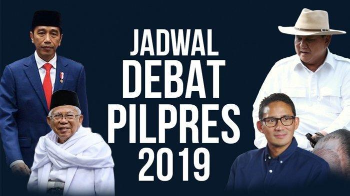Live Streaming Debat Ke 5 Pilpres 2019 Live TV One dan ANTV, Ekonomi Keumatan vs Referendum Ekonomi