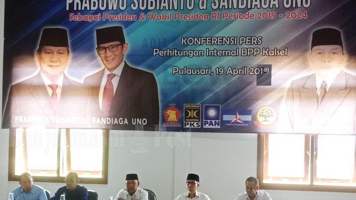 Prabowo-Sandiaga Unggul di Kalsel, Hasil Sementara 65 Persen, BPP Kalsel Gelar Syukuran