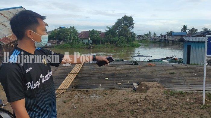 Aparat Desa Telaga Silaba Usulkan Perbaikan Dermaga ke Pemkab HSU
