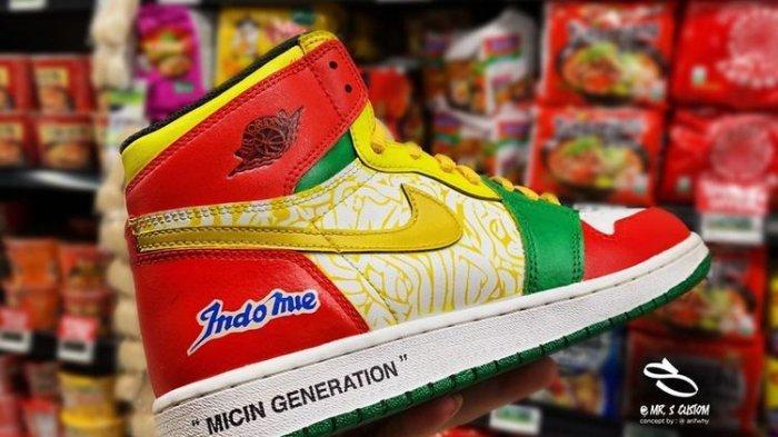 Langka! Sepatu Nike Air Jordan ''Custom'' Tema Indomie Ludes Terjual, Segini Harganya