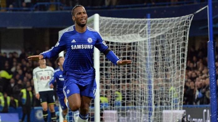 Penyerang Chelsea asal Pantai Gading, Didier Drogba.