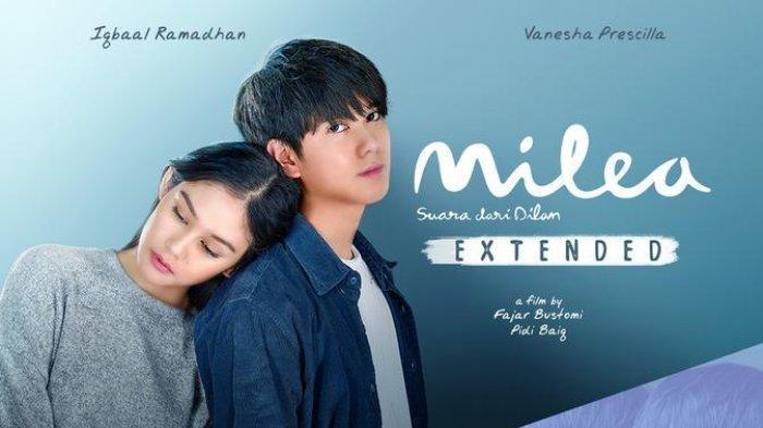 Film Milea Suara dari Dilan Extended yang dibintangi Iqbaal Ramadhan dan Vanesha Prescilla akan tayang di seluruh bioskop Indonesia pada 31 Desember 2020.