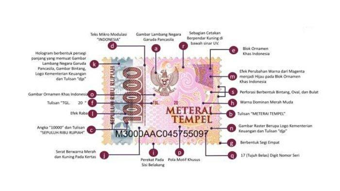 Inilah Wajah Baru Meterai Tempel 2021