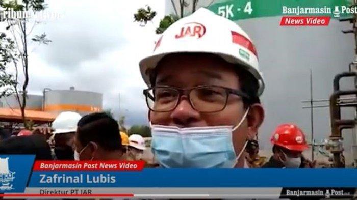 Direktur Jhonlin Agro Raya (JAR), Zafrinal Lubis, di sela acara kunjungan Bupati dr HM Zairullah Azhar yang meninjau Pabrik Biodiesel di Desa Sungai Dua Kecamatan Simpangempat, Kabupaten Tanah Bumbu (Tanbu), Kalimantan Selatan, Selasa (6/7/2021).