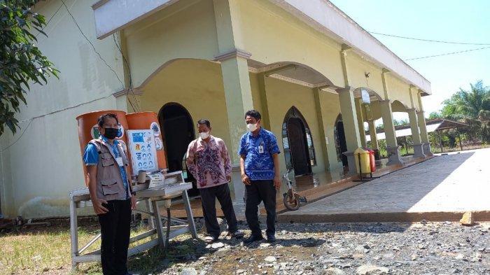 Diskominfo Tanbu  Lakukan Pembinaan dan Monitoring Penegakan Prokes Covid-19 di Desa Satui Timur