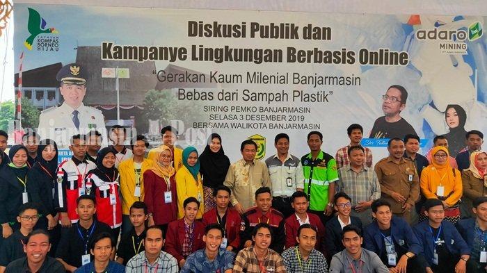 Kaum Milenial Diajak Perangi Sampah, Wali Kota Banjarmasin Ibu Sina Dapat Tambahan Energi