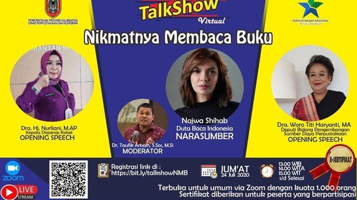 Talk Show Virtual Nikmatnya Membaca Buku Bersama Najwa Shihab