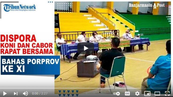 VIDEO Dispora, KONI dan Cabor Rapat Bersama Bahas Porprov ke XI di HSS