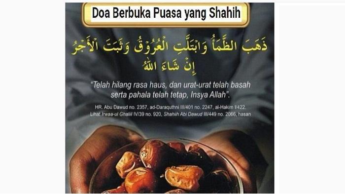 Doa Buka Puasa Ramadhan 1440 H, Simak Tata Cara Berbuka Puasa Sesuai Sunnah Rasulullah