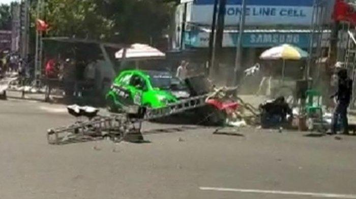 Juru Kemera Terpental, Gigi Depannya Rontok Ditabrak Mobil Pembalap Kejurnas Auto Gymkhana di Tegal