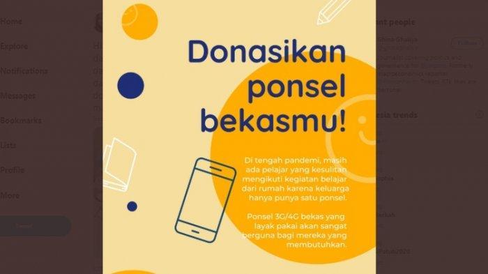 Donasi Ponsel Bekas untuk Siswa Miskin yang Tak Miliki Smartphone, Mau Berkontribusi? Begini Caranya