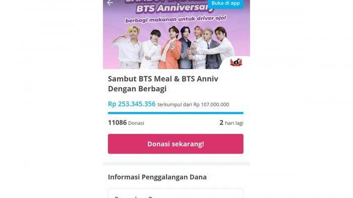 Penggalangan Dana untuk Ojek Online dari Fans BTS, Capai Ratusan Juta