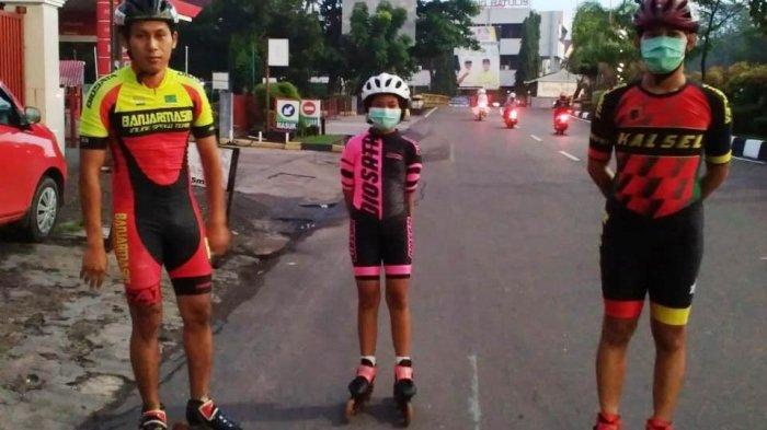 Jelang Berlaga di PON XX Papua, Atlet Sepatu Roda Kalsel Berlatih Teknik hingga Strategi