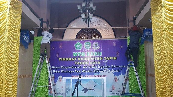 Jadi Ajang MTQ XXXII Tingkat Kabupaten Tapin, Masjid Raya Nurul Falah Rantau Dihias