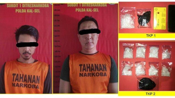 Narkoba Kalsel : Ciduk 3 Tersangka Ini, Ditresnarkoba Polda Kalsel Sita 300 Gram Lebih Sabu