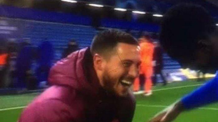 Respon Hazard Usai 'Ketahuan' Ngakak Bareng Pemain Chelsea saat Real Madrid Tersingkir dari UCL
