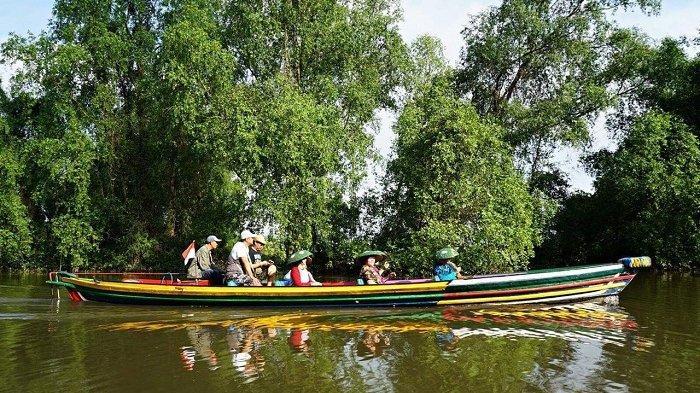 Asyiknya Ekowisata Mangrove Rambai Anjir Muara, Pengunjung Bisa Saksikan Satwa Sembari Susur Sungai