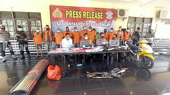Polres Balangan Kalsel Mengungkap 14 Kasus Tindak Pidana, Amankan 12 Tersangka