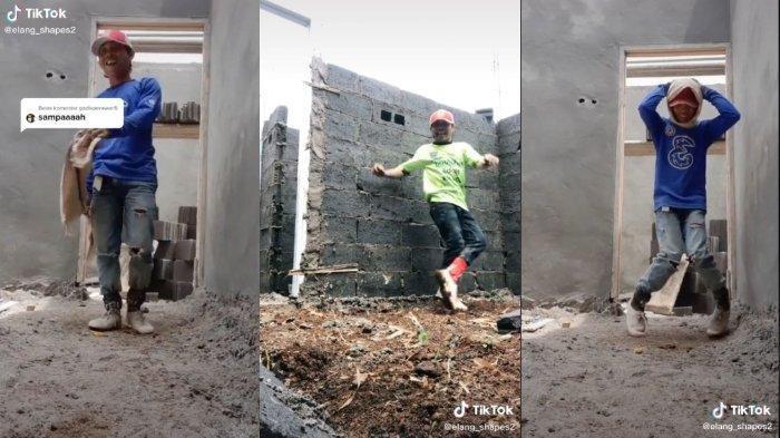 VIRAL Video TikTok, Kuli Bangunan Jago Shuffle Dance, Awalnya Dicaci Kini Elang Banjir Endorse