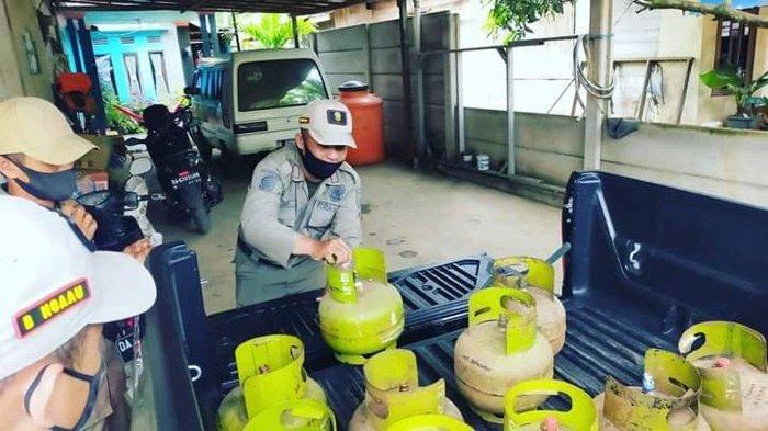 Tertibkan Distribusi LPG 3, Satpol PP Tala Kini Garuk Pangkalan LPG 3 Kg