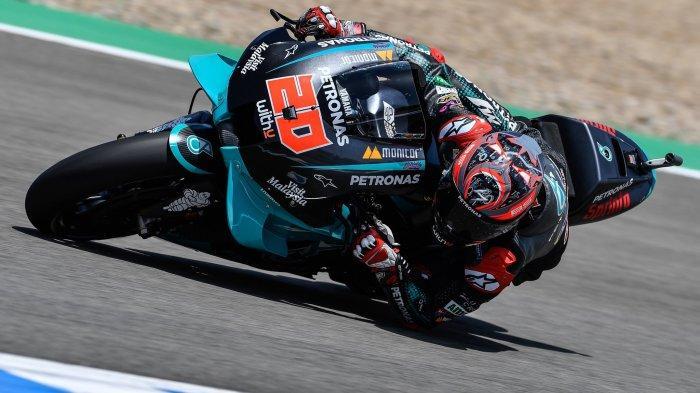 Hasil MotoGP Andalusia 2020 : Quartararo Tercepat, Vinales & Valentino Rossi Posisi 2 & 3