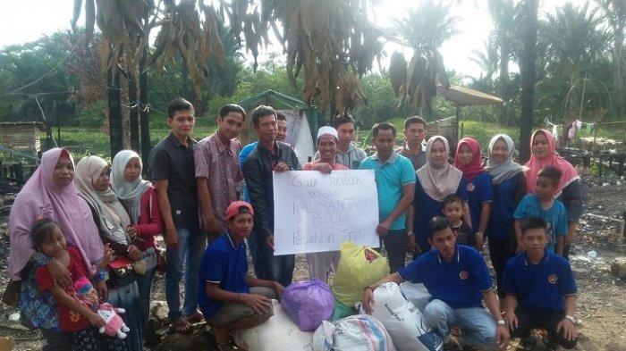 Komunitas Facebooker Kalimantan Peduli Beri Bantuan Korban Kebakaran di Tempat Ini