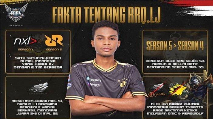 Fakta Pemain Mobile Legends RRQ LJ, Bapak Khufra Indonesia