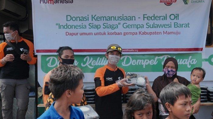 Federal Oil Berikan Donasi Pangan Korban Bencana di Kalimantan dan Sulawesi
