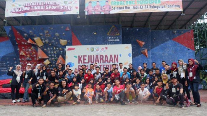 Dispora Tabalong Cari Bibit Atlet Pemanjat Melalui Kejuaraan Panjat Tebing