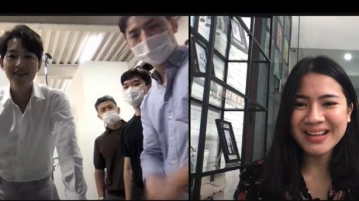 Felicya Angelista video call dengan Song Joong Ki.