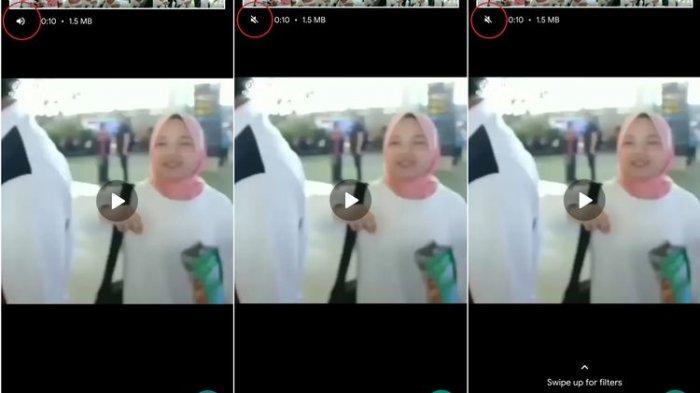 Fitur video yang bisa di-mute sebelum dikirim di WhatsApp.