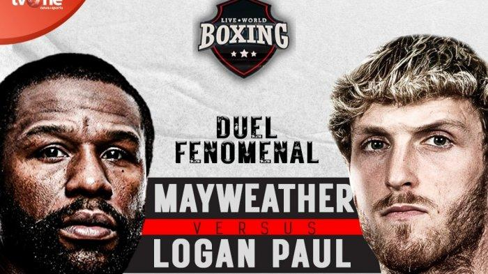 Berlangsung! Link Live Streaming Tinju di TV One Floyd Mayweather jr vs Logan Paul Hari Ini