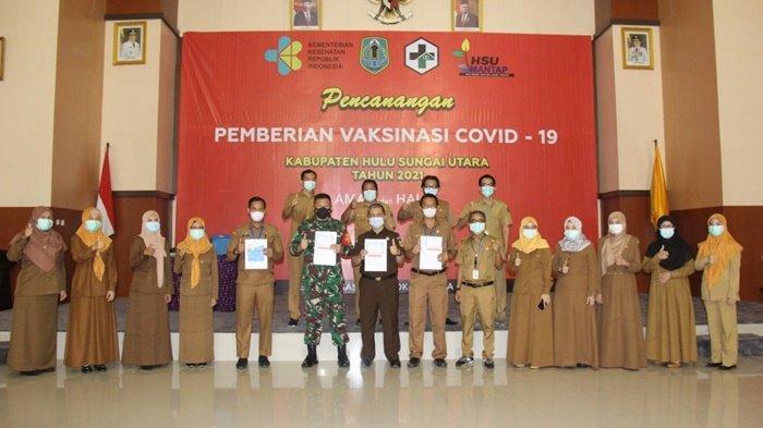 Vaksin Covid-19 Dosis Kedua Mulai Dilakukan di Kabupaten HSU