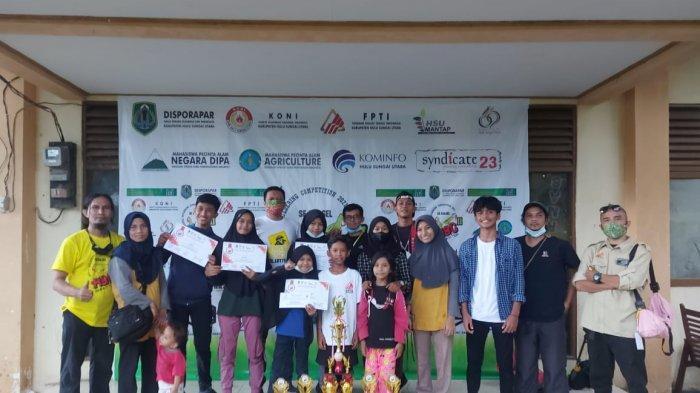 FPTI Banjar Gondol Piala Bupati HSU sebagai Juara Umum Kompetisi Panjat Tebing ABC-II 2021