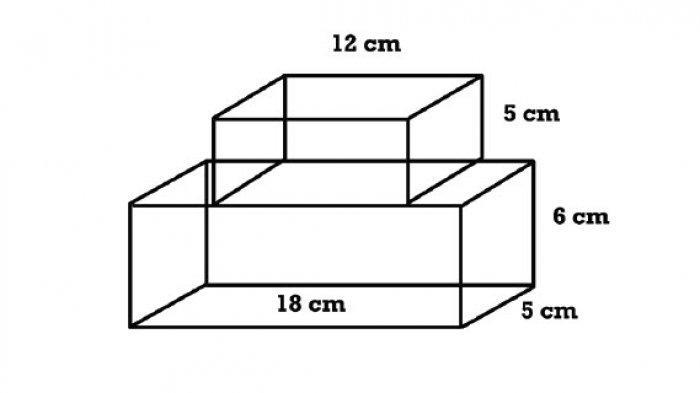Gambar Balok 2 soal kelas 6 sd