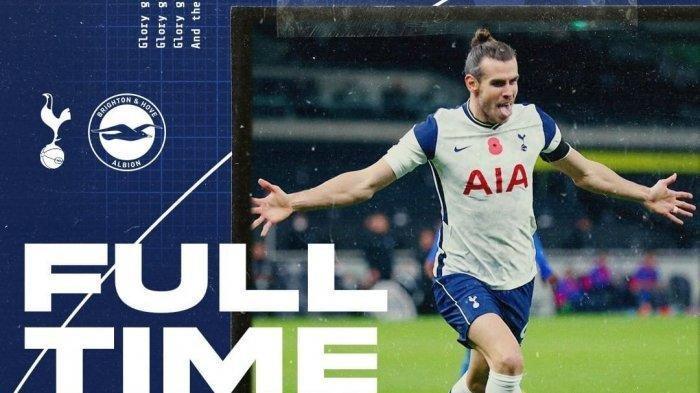 HASIL Tottenham Hotspur vs Brighton Liga Inggris: Spurs Menang, Gareth Bale Jadi Pahlawan Spurs