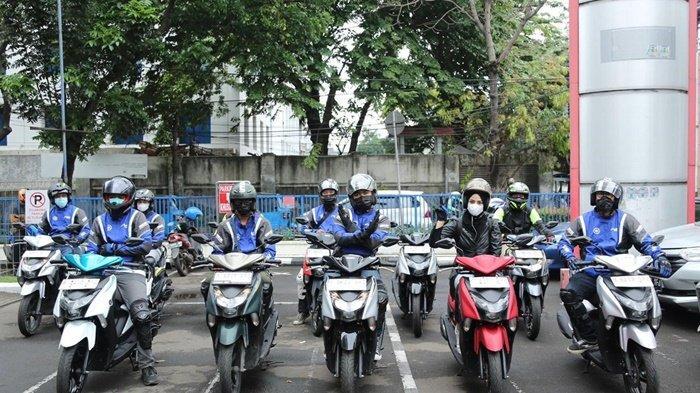 Gaya peserta sebelum mengikuti Yamaha Morning Ride (YAMAMORI).