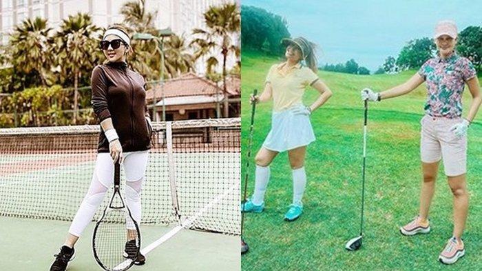 Gaya Main Golf Luna Maya Vs Main Tenis ala Syahrini, Dua Seleb yang Keranjingan Olahraga