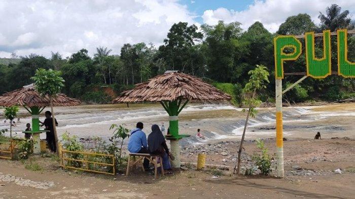 Wisata Alam Pulau Mas HST Kalsel, Asyik untuk Ngadem di Tepi Sungai Benawa