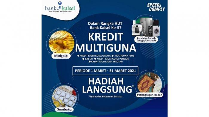 Sambut HUT ke-57 Bank Kalsel, Gebyar Hadiah Langsung Kredit Multiguna