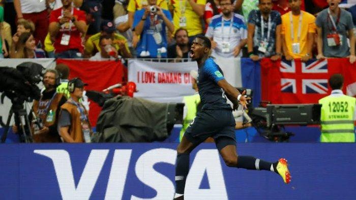 Paul Pogba, Pemain Pertama Man United yang Cetak Gol di Final Piala Dunia
