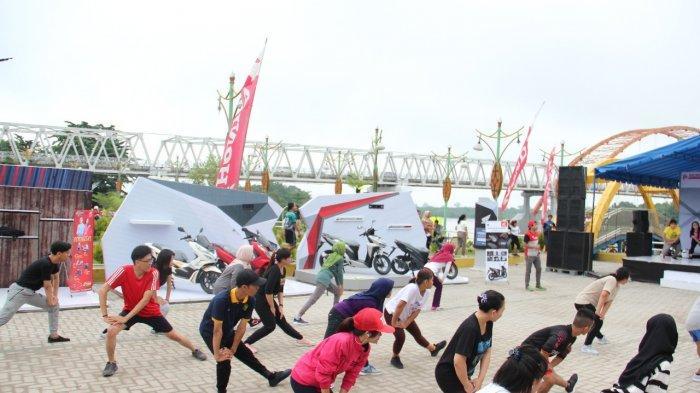 1.000 Pengunjung Ramaikan Honda Premium Matic Day di Taman Pasuk Kemeluh Palangkaraya