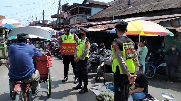 PPKM Mikro di Banjarmasin, Ditsamapta Polda Kalsel Operasi Yustisi di Kota Banjarmasin Imbau 5M