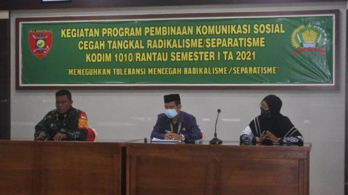 Silaturahmi Kodim Rantau dengan Elemen Masyarakat Sinergisitas Cegah Radikalisme