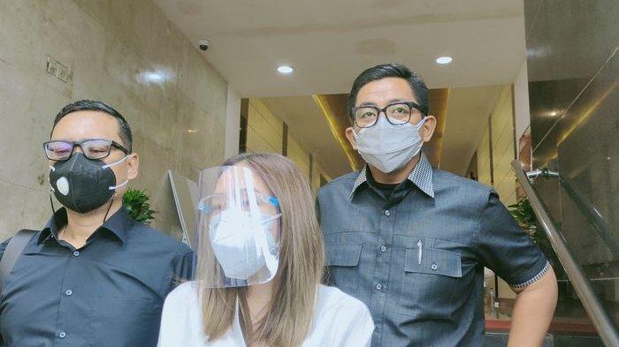 Gisella Anastasia saat ditemui Grid.ID di Polda Metro Jaya, Senin (8/2/2021).