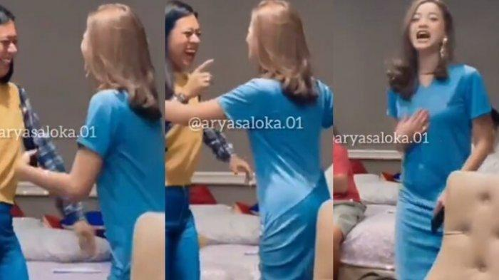 Glenca Chysara pemeran Elsa asyik goyang lagu Ayu Ting Ting