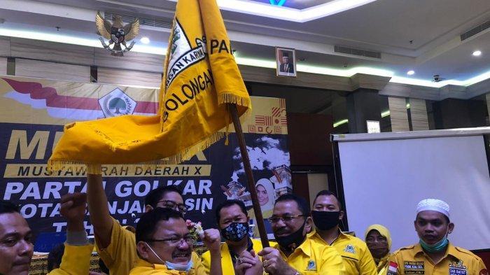 Terpilih Aklamasi, H Yuni Komandoi Golkar Banjarmasin Hingga 2025