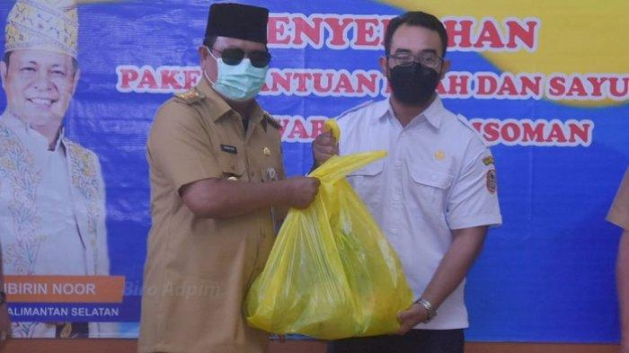 Peduli Warga Isoman, Pemprov Kalsel Distribusikan Ratusan Paket Sembako