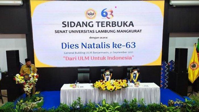 Dies Natalis ke-63 ULM, Rektor UsulkanGubernur Kalsel Dapatkan Gelar Doctor Honoris Causa